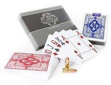 2x wasserfeste Plastik Pokerkarten von Bullets Playing Cards mit 4 Eckzeichen