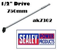 "Sealey AK7302 Breaker Bar 750mm 1/2""Sq Drive Power Bar Chrome Vanadium"