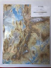 Pull Down School Map 1 Layer Utah. Vintage, Salvage, Old, Antique.