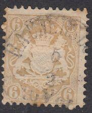 Baviera (Alemania):1870 6k Bistre Perf 11 1/2 sg55a Usado