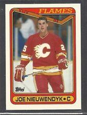 1990-91 Topps Tiffany Hockey - #87 - Joe Nieuwendyk - Calgary Flames