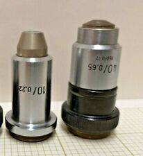 LOT! Carl Zeiss microscope objectives 40x/0.65 and 10x/0.22