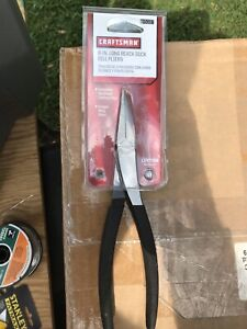 NEW CRAFTSMAN USA MADE 8 INCH LONG REACH DUCK BILL PLIERS  # 45087 Free shipping