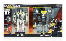 Toynami Robotech Roy Fokker VF-1S GBP-1 Heavy Armor Transformable FIgure In Hand