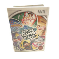 Hasbro Family Game Night 2 (Nintendo Wii, 2009) with Manual - Tested & Working
