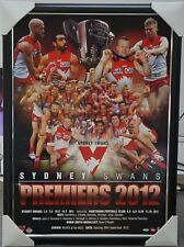 SYDNEY SWANS 2012 AFL PREMIERS PRINT FRAMED - GOODES, HANNEBERY