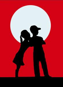 "BANKSY STREET ART CANVAS PRINT Kiss 8""X 10"" love hurts poster RED"