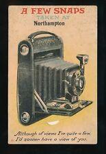 Northants NORTHAMPTON photography Camera Pocket Novelty c1940/50s? PPC