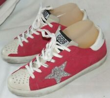 GGDB Golden Goose Superstar red suede silver star glitter sneakers shoes 37 us 7