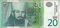 BILLETE DE 20 DINARES DE SERBIA