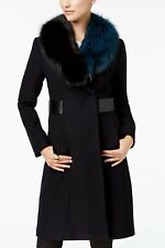 1 Madison Expedition Fox-Fur-Collar Walker Coat Black XXL NWT! $950.00