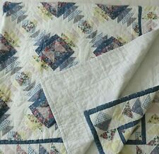 Vintage Handmade Quilt Blanket Hourglass Country Cotton 83 in x 83 in square