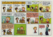 Calvin and Hobbes by Bill Watterson - color Sunday comic page - April 4, 1993