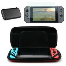 Starter Set: Hard Travel Case & Premium Tempered Glass for Nintendo Switch