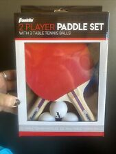 New listing Franklin Ping Pong Paddles 2 Player Table Tennis Set Paddle Kit Sports