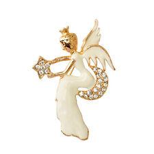 Hot Angel Rhinestone Brooch Pin High Quality Merry Christmas Gift