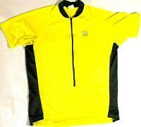 Cannondale Cycling bike Bicycle Jersey full zip Pockets Shirt Yellow Sz XXL
