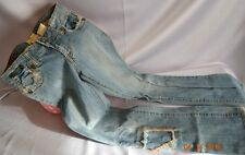 Victorias Secret MARLOW Denim Jeans Distressed Patchwork  NEW 27 / 5