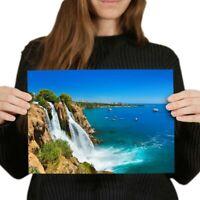A4 - Waterfall Duden Antalya Turkey  Ocean Poster 29.7X21cm280gsm #24412