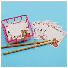 PRETTY SAN-X RILAKKUMA 35 SHEETS NOTEPAD/MEMO PAD/CUTE NOTE #B