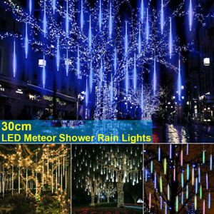 LED Meteor Shower Lights Waterproof Falling Rain Icicle Outdoor Christmas Decors