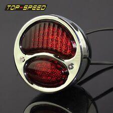 Chrome For Ford Model A Duolamp Tail Light For Harley Bobber Chopper Glass Lens