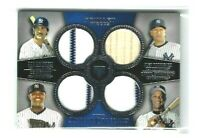 2013 Topps Museum NY Yankees Legends QUAD Jersey #99, Mattingly, Strawberry!