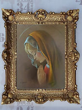Gemälde Jesus Maria Ikonen Heiligenbild mit Rahmen 56x46 cm Religiöse Bilder 31