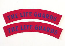 British Army THE LIFE GUARDS patches a pair.SCREEN PRINTED 2 patches