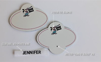 set of 2 - Disney Store Cast Member Name Tags 1987 to 1989 - Blank, New