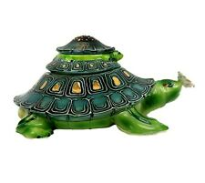 J. McCall 2004 Blue Sky Mother Turtle With Babies Ceramic Trinket Box