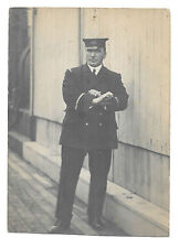 Royal Naval Officer With Telescope RP PPC, circa WW1