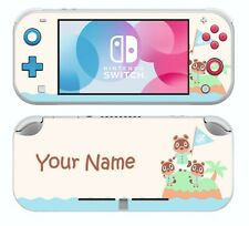 Nintendo Switch LITE PERSONALISED animal crossing Sticker Skins Decals cover