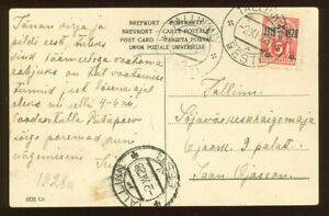 Estonia F14 Postcard used 1928 TALLINN