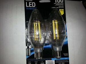 FIET ELECTRIC LED 2 PACK 100 WATT REPLACEMENT DAYLIGHT E12