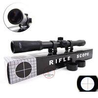 4X20 Telescopic Scope Sight Mounting Rifle Airgun Gun For Hunting