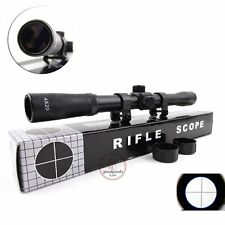 4X20 Telescopic Scope Sight Mounting Rifle Airgun Gun For Hunting