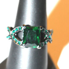 Wicca  Blessed Ring 14 K Black Gold Filled End Pain Size 8