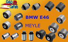 KIT COMPLETE SET BMW 3 E46 REAR AXLE TRAILING SUBFRAME ARM BUSHES - Meyle
