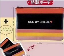 US Japanese Magazine Appendix faux leather See by Chloe Cosmetic Bag Purse bag