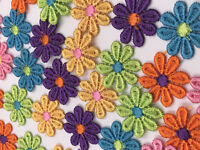 2yd Vintage ST Scalloped Embroidery Cotton Fabric Crochet Lace Trim2.5cm wide