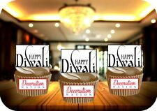 Happy Diwali Sign 12 Edible STANDUP Cake Topper Decoration Celebration Candles