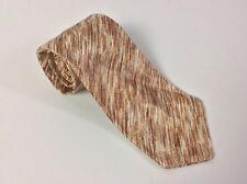 Vintage Brown Sandstone Design Neck Tie * No Brand Shown * Unique Tan
