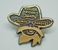 Rough Rider Country North Dakota Teddy Roosevelt Vintage Lapel Pin