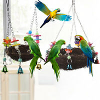 Pet Birds Nest Hammock Swing Toy Cockatiel Macaw Parrot Cage Hanging Chew Toys