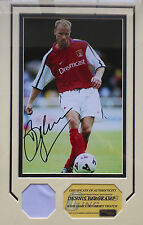 Dennis Bergkamp Arsenal Signed Photo Framed and mounted with COA