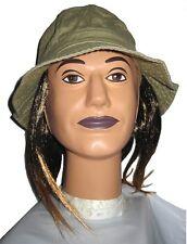 Bucket Hat with 2 Tone Color Hair Beach Bum Hippie