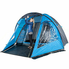 skandika Drammen 5 Person/Man Dome Group Tent Camping Insect Free Blue New