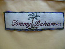 Tommy Bahama Long Sleeve 100% Cotton Solid Yellow Casual Shirt XL