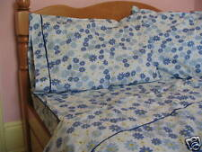 Kids Cotton Twin Size Bedding Set Navy Blue Daisy